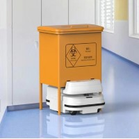 医疗垃圾转运机器人 医疗废弃物转运解决方案 钛米机器人