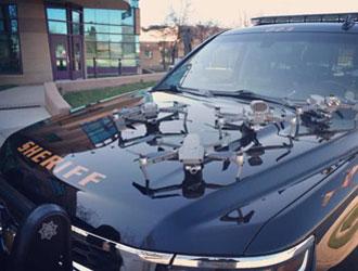美国多地用中国大疆无人机对抗新冠 新泽西警方:救一条命就值