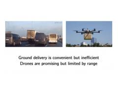 """研究称通过""""搭便车"""",送货无人机续航能力或可提升四倍"""