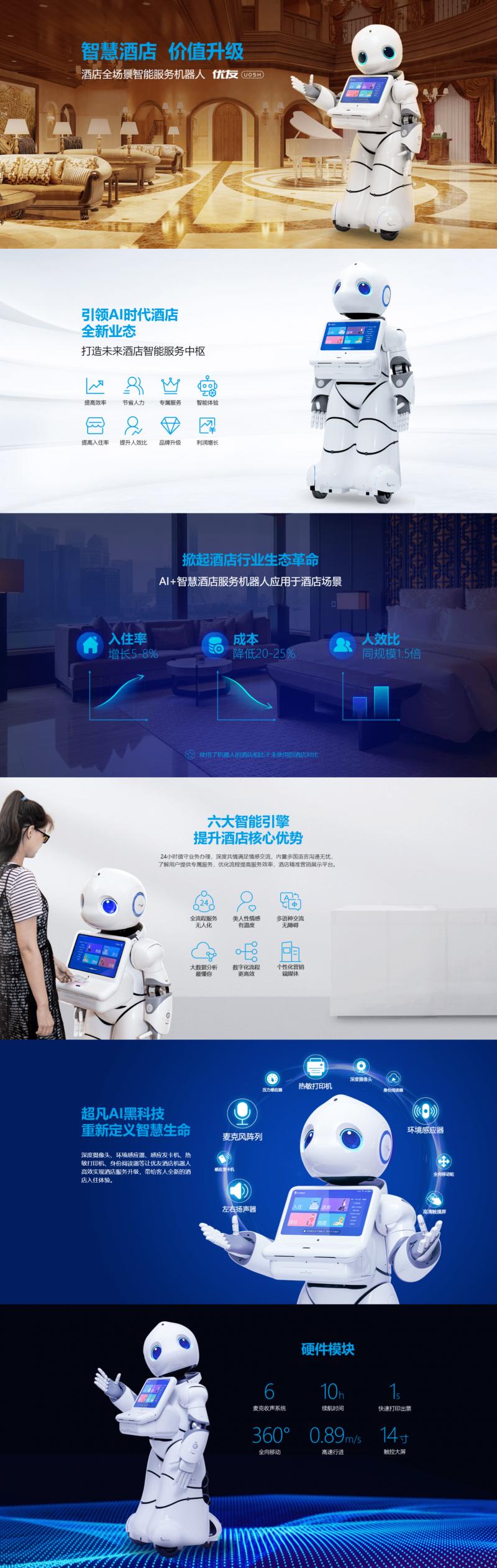 康力优蓝酒店机器人