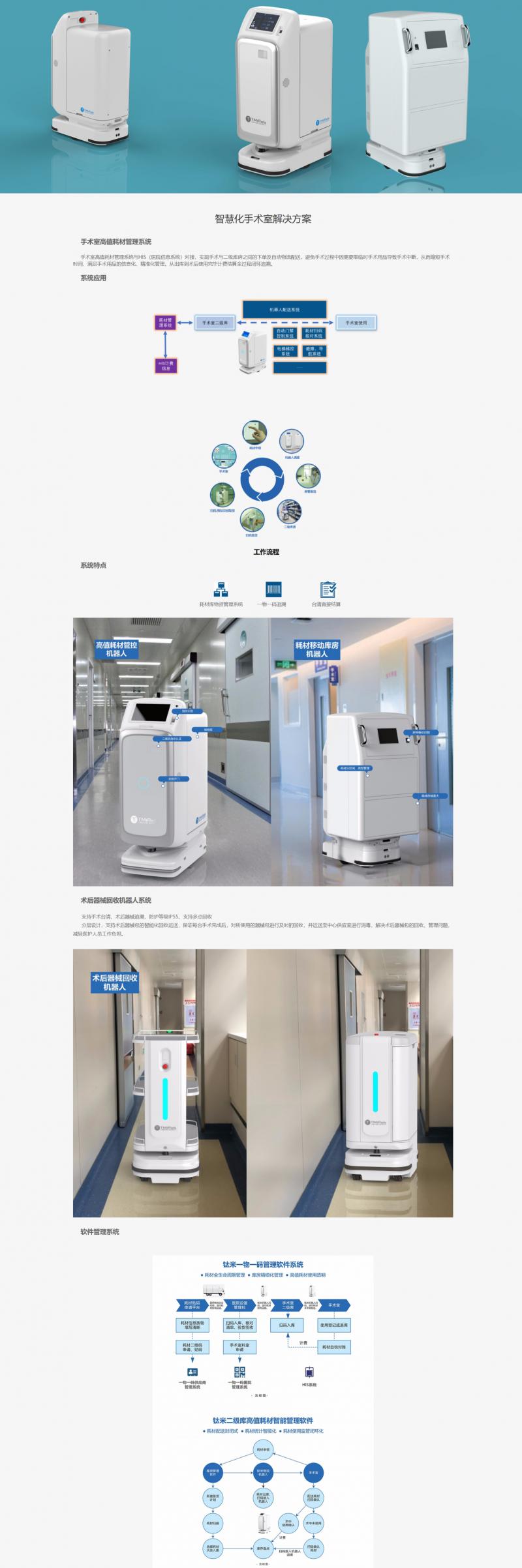 钛米医疗物资配送机器人