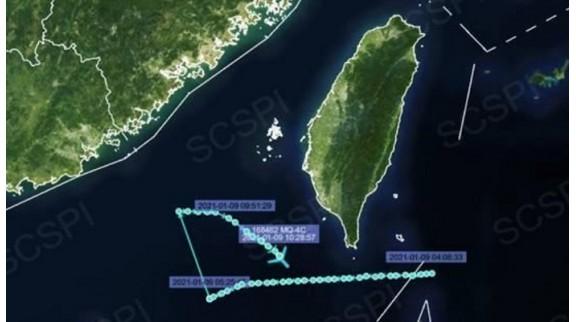 美军MQ-4C战略无人机被曝现身南海 抵近广东福建海岸