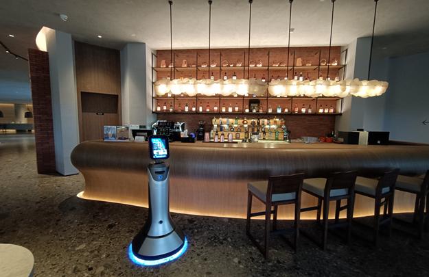 迎宾机器人在酒店 诗意的介绍直接拉高酒店档次