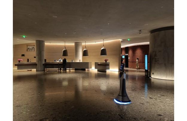 视频|迎宾机器人酒店应用案例展示